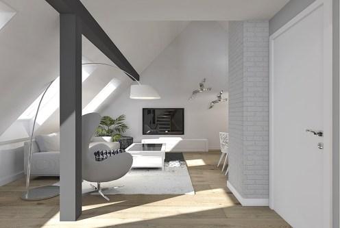 na zdjęciu prestiżowy salon w ekskluzywnym apartamencie na sprzedaż Szczecin