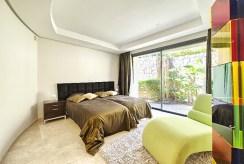 zaciszna sypialnia w ekskluzywnym apartamencie do sprzedaży Hiszpania (Costa del Sol, Malaga)