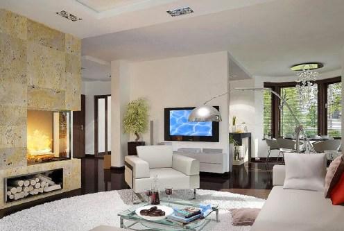 nowoczesny salon w ekskluzywnej willi do sprzedaży Suwałki (okolice)