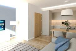 zdjęcie prezentuje pokój dzienny w ekskluzywnym apartamencie na sprzedaż Ostrów Wielkopolski