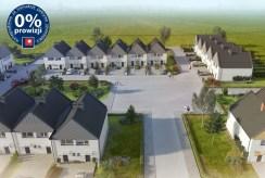 widok z góry na osiedle, na którym mieści się oferowana do sprzedaży ekskluzywna willa Leszno