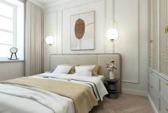 elegancka sypialnia w ekskluzywnym apartamencie do sprzedaży Kalisz