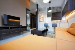 widok na aneks kuchenny w ekskluzywnym apartamencie do wynajmu Łódź
