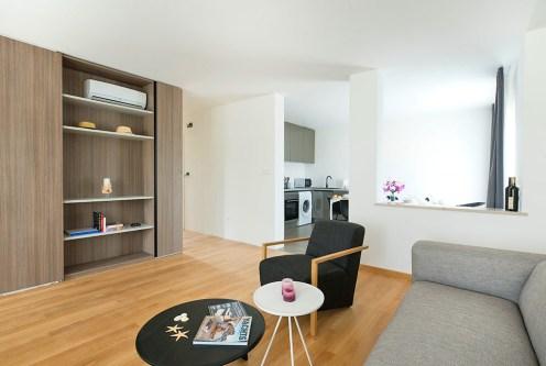 elitarny pokój dzienny w luksusowym apartamencie na sprzedaż Chorwacja (Sovlje)