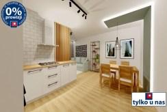 widok na kuchnię i jadalnię w ekskluzywnym apartamencie do sprzedaży Lublin