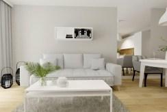 zbliżenie na pokój dzienny w ekskluzywnym apartamencie na sprzedaż Szczecin