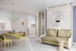 przeciwległa strona salonu w luksusowym apartamencie do sprzedaży nad morzem
