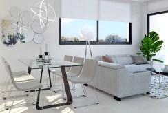 widok na pokój gościnny w luksusowym apartamencie na sprzedaż Hiszpania (Benidorm, Urb. Las Lomas)