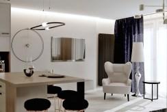 druga strona pokoju gościnnego w luksusowym apartamencie na sprzedaż Tarnów