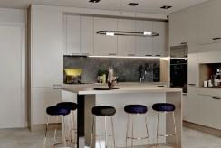 jadalnia i aneks kuchenny w ekskluzywnym apartamencie na sprzedaż Tarnów