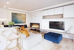 wytworny pokój dzienny w ekskluzywnym apartamencie do sprzedaży Ustroń