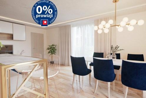 na zdjęciu jadalnia i aneks kuchenny w luksusowym apartamencie na sprzedaż Ustroń