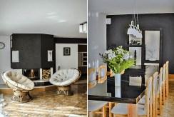 2 ujęcia komfortowego wnętrza ekskluzywnej willi na sprzedaż Łódź (okolice)