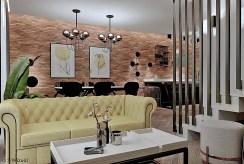 zbliżenie na pokój dzienny w luksusowym apartamencie na sprzedaż Tarnów