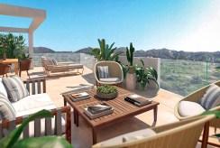 wspaniały taras przy ekskluzywnym apartamencie do sprzedaży Hiszpania Fuengirola, Malaga, Costa del Sol