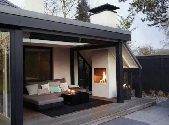 teras rumah minimalis sederhana oke