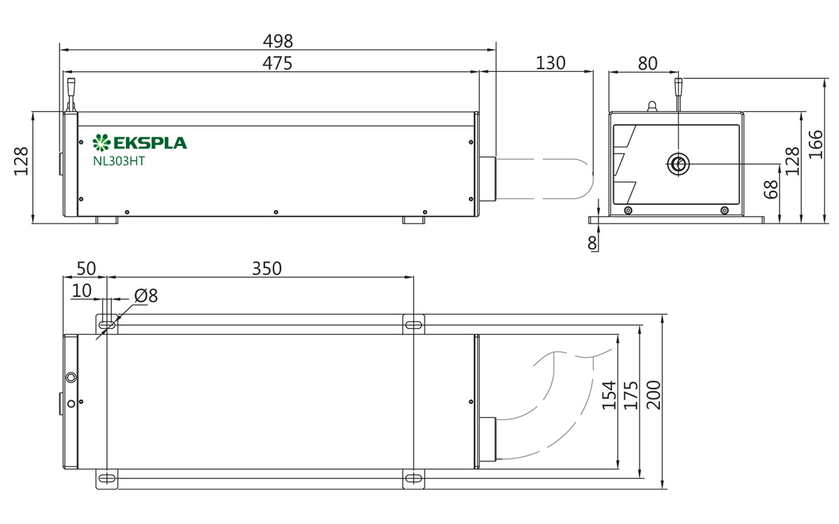 hight resolution of typical nl300 series laser head outline drawing