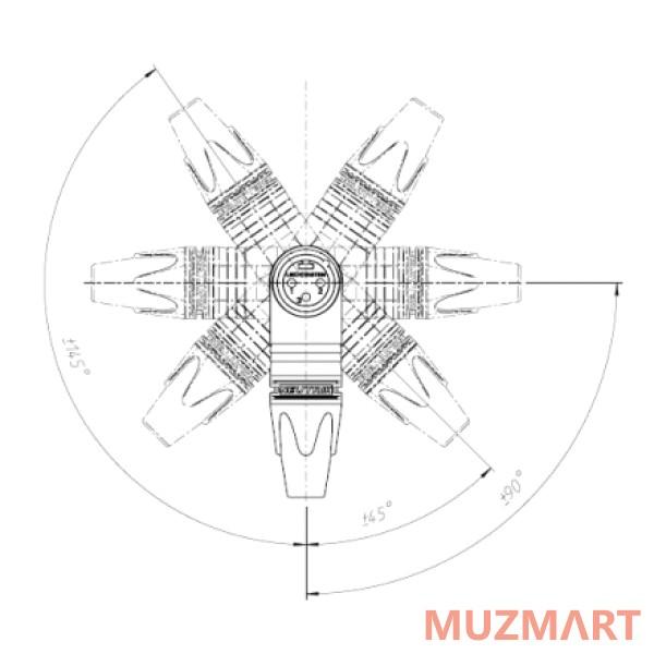 Neutrik NC3MRX Кабельный разъем угловой XLR male купить