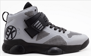 Ektio Grey/Black Breakaway Ankle Support Basketball Shoes Side View (Outside)