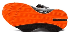 Ektio Orange/Grey Breakaway Ankle Support Basketball Shoes Bottom View