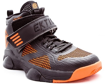 Ektio Orange/Black Breakaway Ankle Support Basketball Shoes