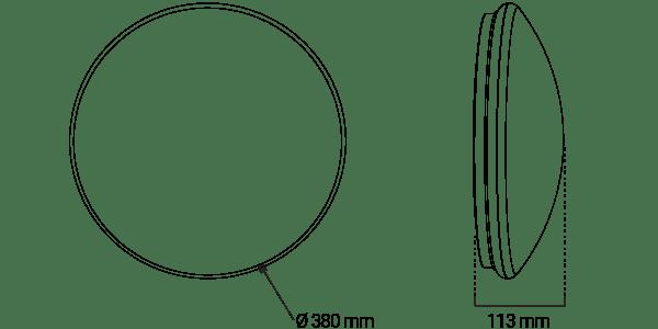Pearl IP20 Ø380mm – Ektor