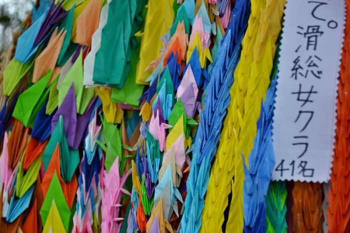 paper cranes Hiroshima