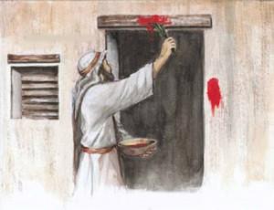 Le peuple d'Israël, épargné grâce au sang de l'agneau