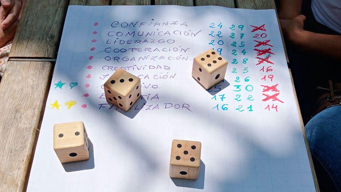 Imatge d'elements utilitzats en una de les sessions de treball en equip amb el Consell Comarcal del Baix Llobregat