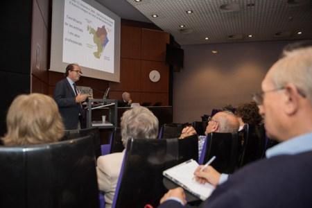El Dr David Font en un acte de l'Hospital Clínic de Barcelona