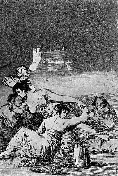 Sueño de la mentira y la inconstancia, Goya