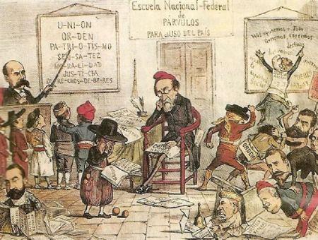 Caricatura del semanario La Flaca