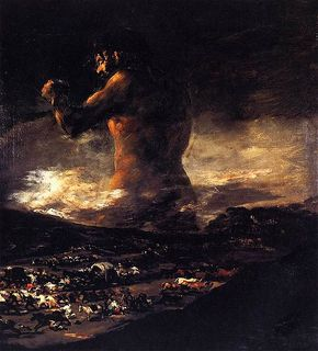 """El Coloso"", Francisco de Goya y Lucientes"