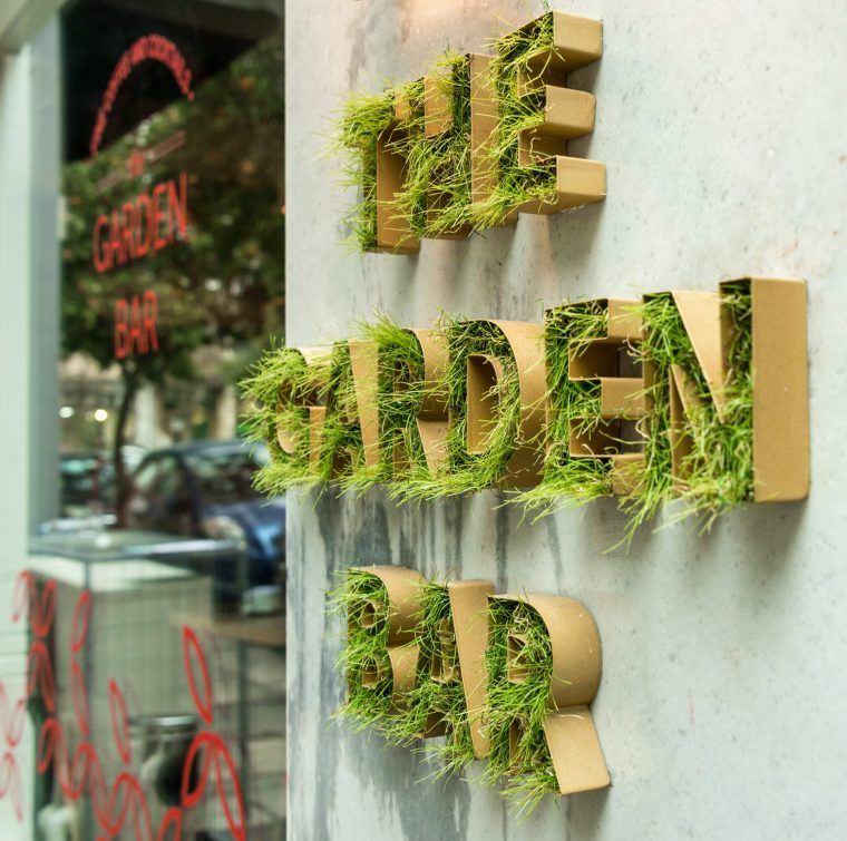 Welcome to the Garden Bar of COLORS Urban Hotel