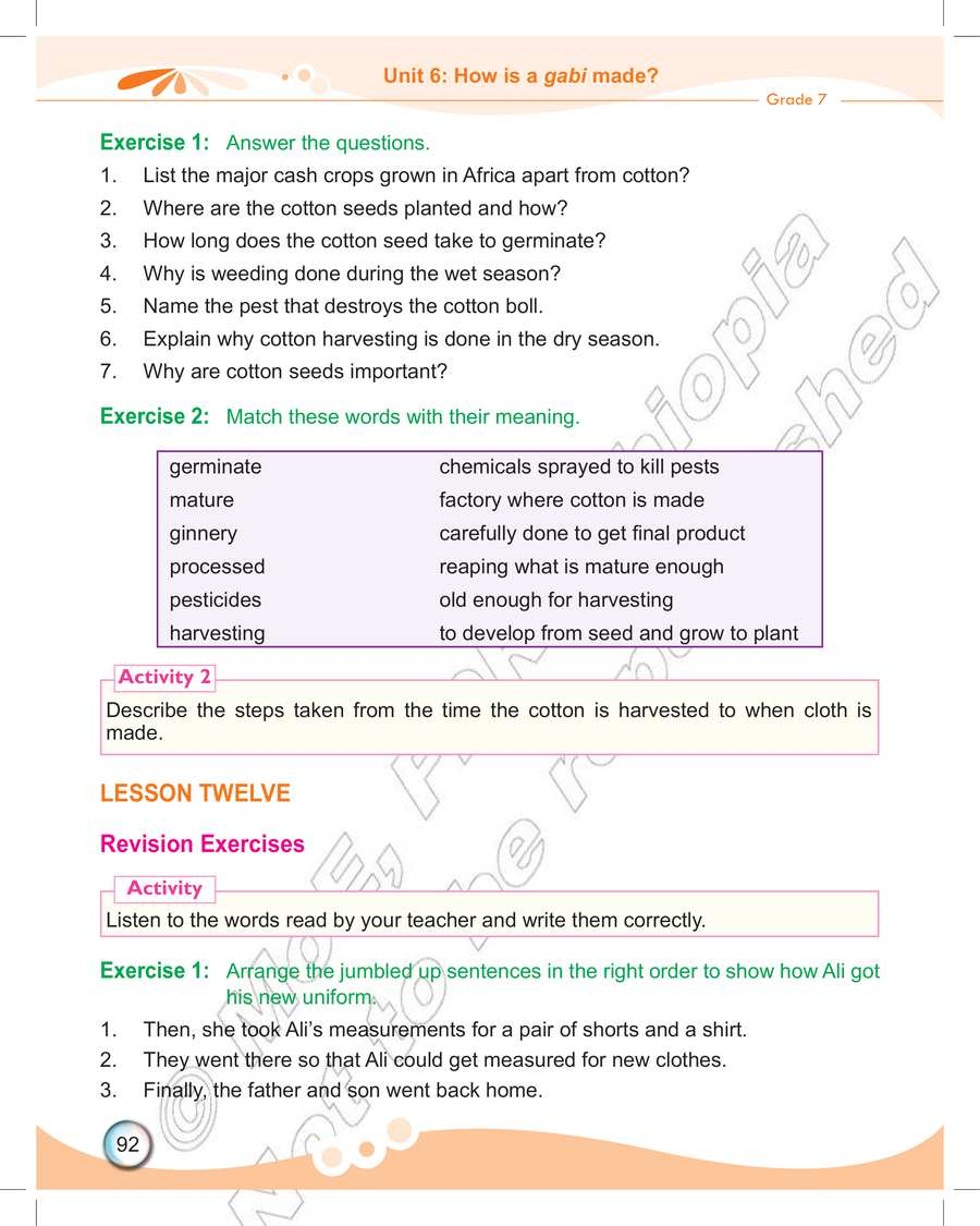 medium resolution of Ethiopia Learning - English grade 7 page 254 in English