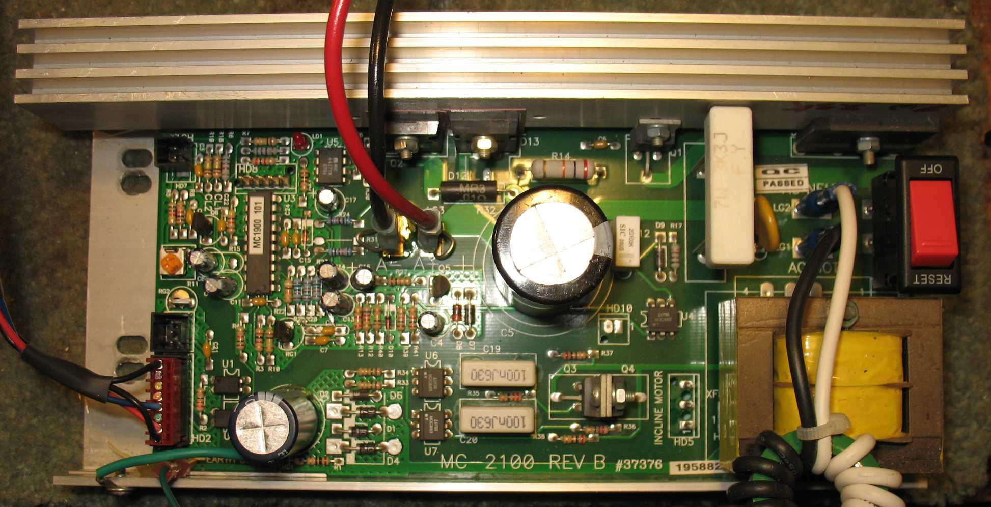 Ac Motor Schematic Diagram Mc 2100 Treadmill Motor Speed Control Circuit