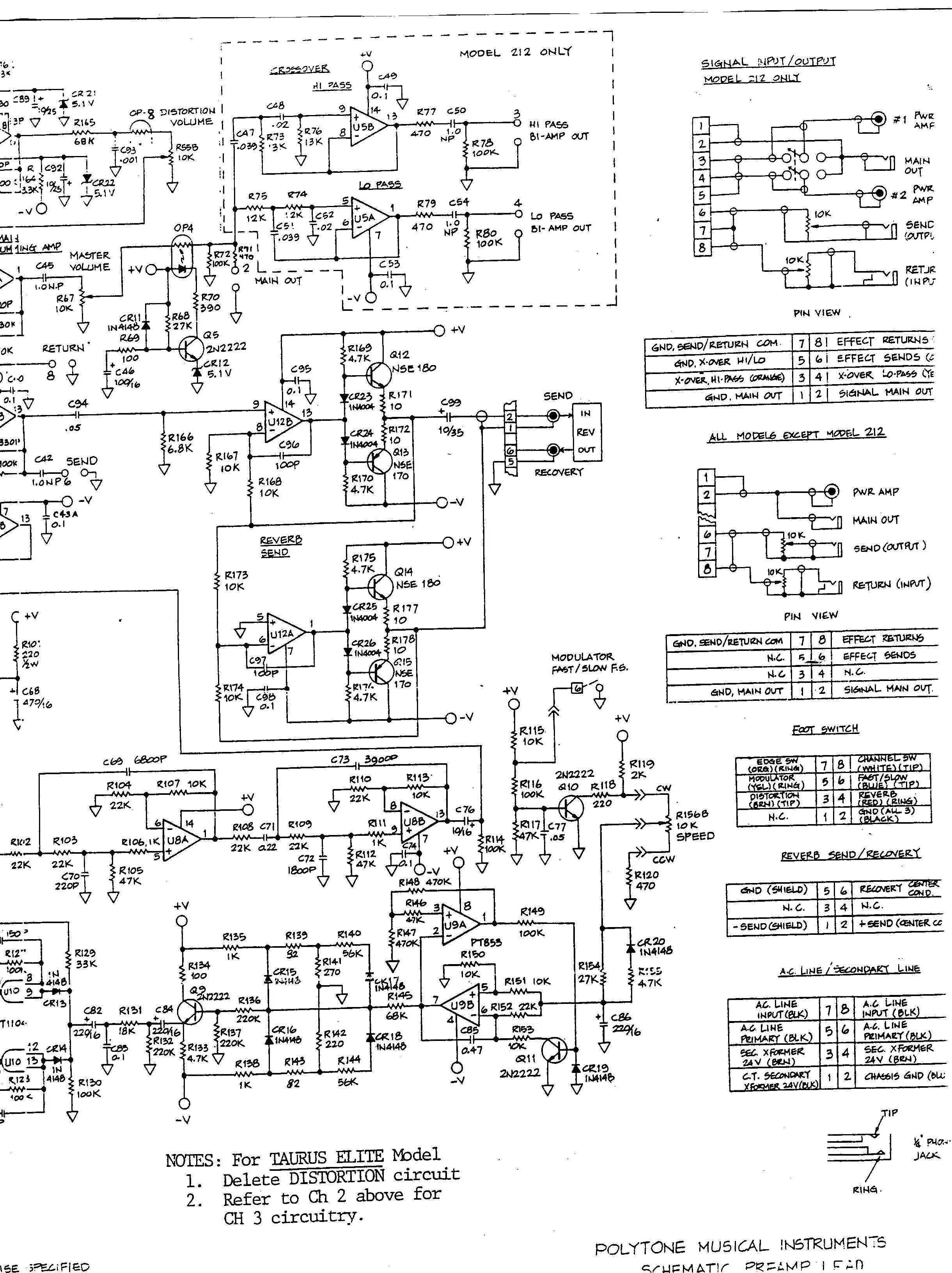 rca wiring diagram model d65 20