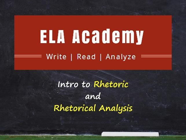 Intro to Rhetoric & Rhetorical Analysis