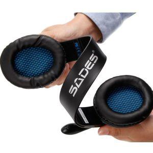 SADES Gaming headset Tpower με 40mm ακουστικά, Blue | Συνοδευτικά PC | elabstore.gr