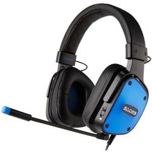 SADES Gaming Headset Dpower, 3.5mm, 40mm ακουστικά, Blue | Συνοδευτικά PC | elabstore.gr