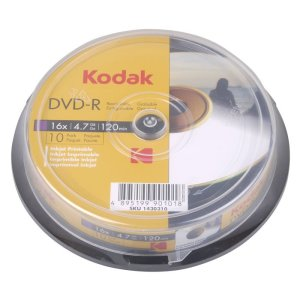 KODAK DVD-R Printable 10-Pack 16x 4.7GB | ΕΙΚΟΝΑ / ΗΧΟΣ | elabstore.gr