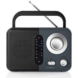 NEDIS RDFM1300GY FM Radio, 2.4 W, Carying Handle, Black / Grey | ΕΙΚΟΝΑ / ΗΧΟΣ | elabstore.gr