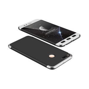 POWERTECH Θήκη 360° Protect για Xiaomi Mi A1/Mi 5X, μαύρη-ασημί   Αξεσουάρ κινητών   elabstore.gr