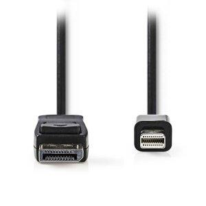 NEDIS CCGP37400BK30 Mini DisplayPort male - DisplayPort Male, 3.0 m, Black | ΚΑΛΩΔΙΑ / ADAPTORS | elabstore.gr