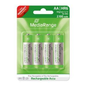 MEDIARANGE Accu επαναφορτιζόμενες μπαταρίες AA HR6 Mignon 1.2V, 4τμχ | Μπαταρίες - Φακοί | elabstore.gr