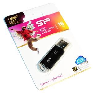 SILICON POWER USB Flash Drive Blaze B02 , 16GB, USB 3.1, Black   Συνοδευτικά PC   elabstore.gr