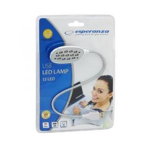 ESPERANZA USB LED φακός EA120 για laptop, 13 LED, ασημί | Αξεσουάρ για Laptop | elabstore.gr