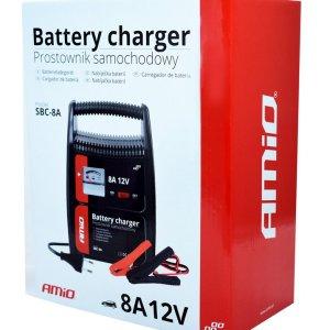 AMIO φορτιστής μπαταριών 12V/8A 02086, με αναλογική ένδειξη και ασφάλεια | Gadgets | elabstore.gr