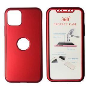 POWERTECH Θήκη Body 360° με Tempered Glass για iPhone 11 Pro, κόκκινη | Αξεσουάρ κινητών | elabstore.gr