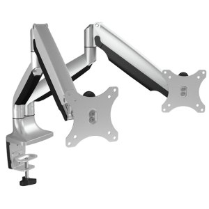 "ICY BOX IB-MS504-T Monitor stand with table support for two monitors up to 32"" / 